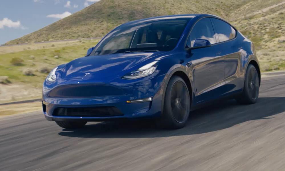 Tesla Model Y in Blue
