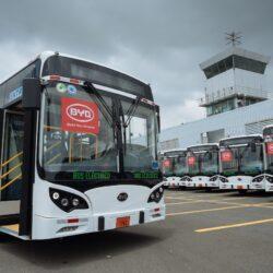 BYD Bus Fleet in Ecuador
